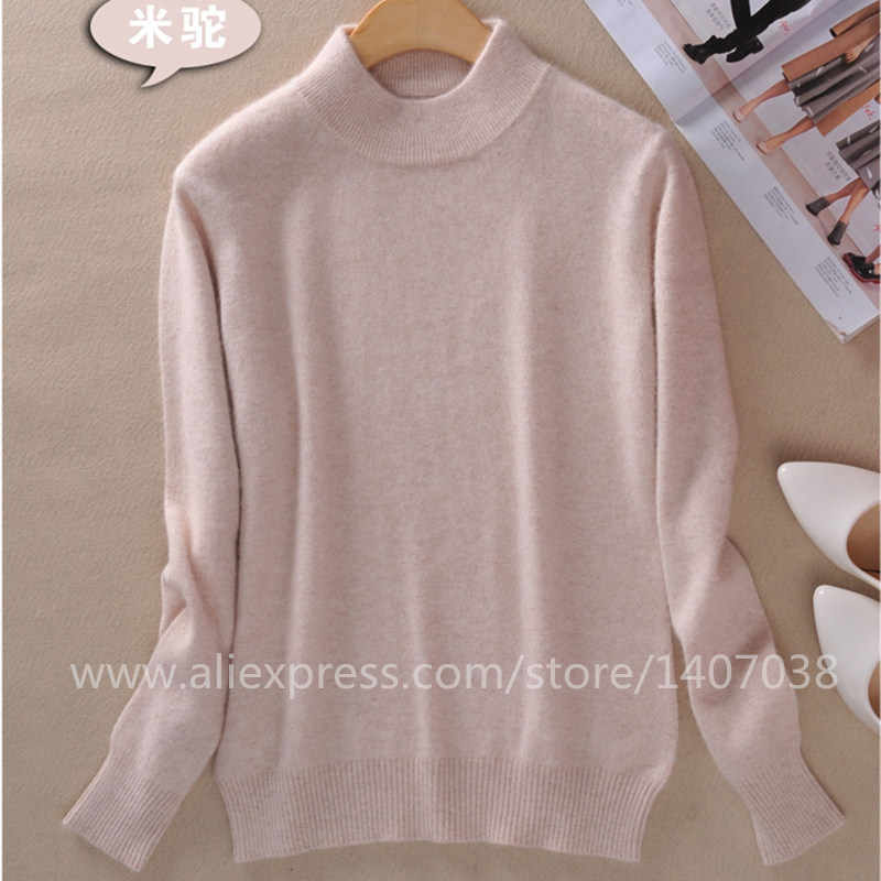 High-quality Cashmere Sweaters Women Fashion Autumn Winter Female Soft and Comfortable Warm Slim Cashmere Pullovers