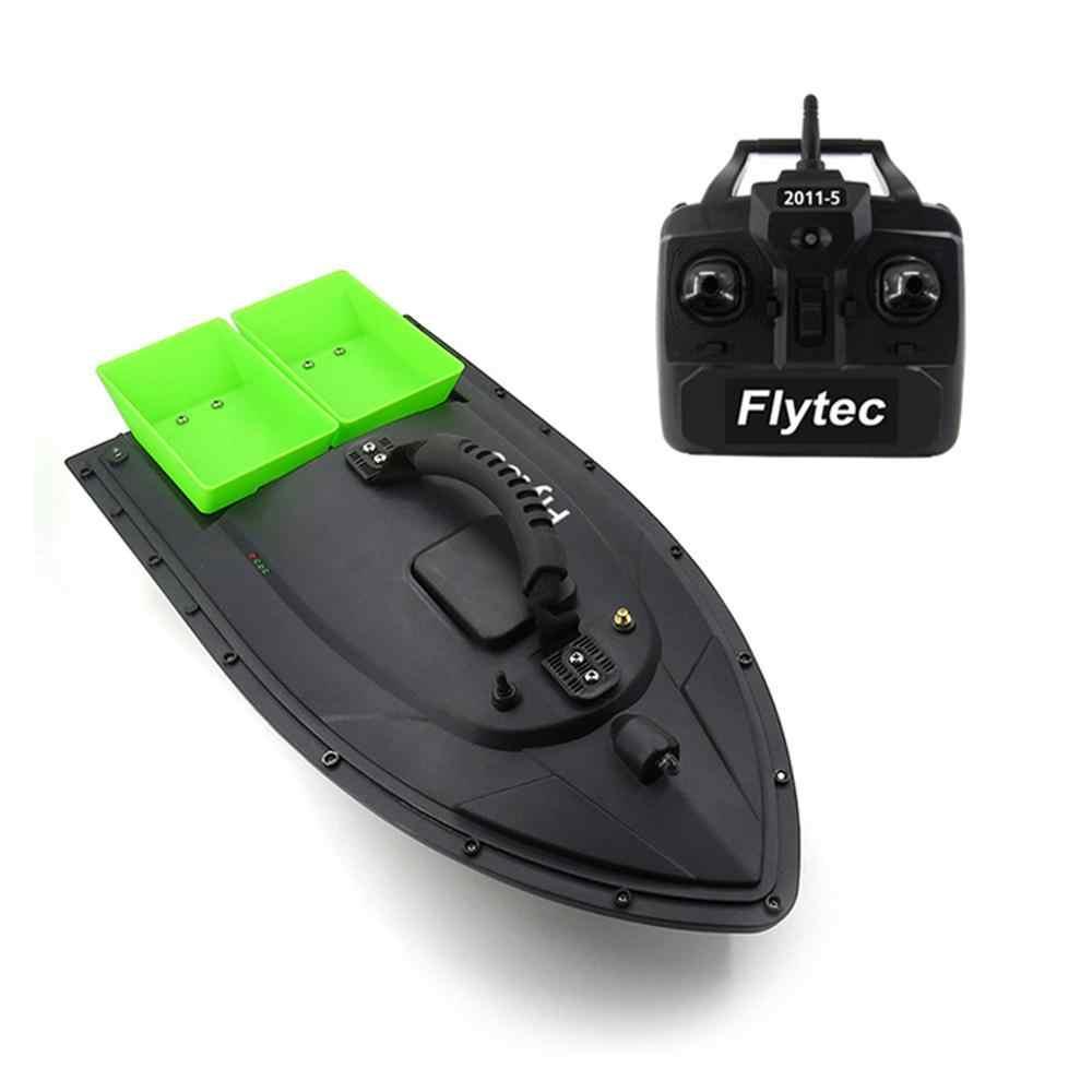 Flytec 2011-5 herramienta de pesca Smart RC Bait Boat Toys Dual Motor buscador de peces barco Control remoto 500m barcos de pesca Speedboat