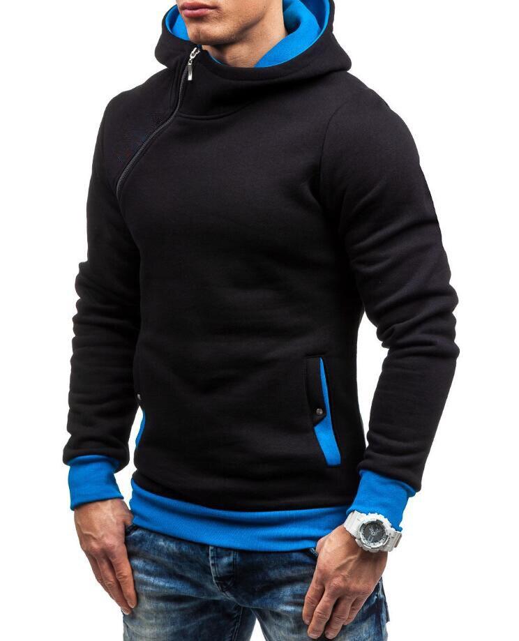 HEYKESON Brand 2017 Hoodie Oblique Zipper Solid Color Hoodies Men Fashion Tracksuit Male Sweatshirt Hoody Mens Purpose Tour XXL HEYKESON Brand 2017 Hoodies, with an chest Zipper HTB1wczlSFXXXXcqaXXXq6xXFXXXJ