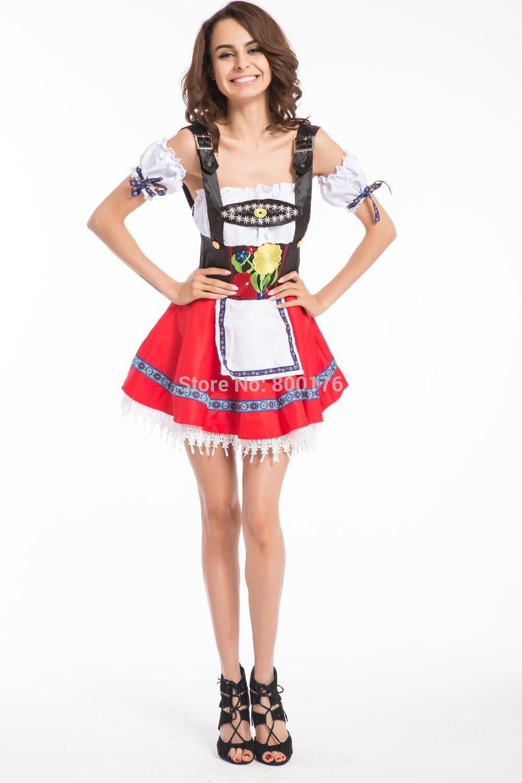 El envío libre vendedor caliente de Halloween Disfraces chica cerveza adulto hembra adulta Cosplay fantasía disfraces Oktoberfest