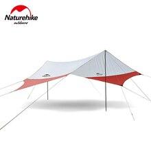 Naturehike Large Camping Tent Awning Beach Playing Games Fishing Hiking Outdoor 5 Person Tent Grey Orange