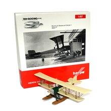 1/87- Detailgetreues Flugzeugmodell Boeing & Westervelt Model 1 B&W MINIATURMODELLE Alloy material The propeller plane model цена