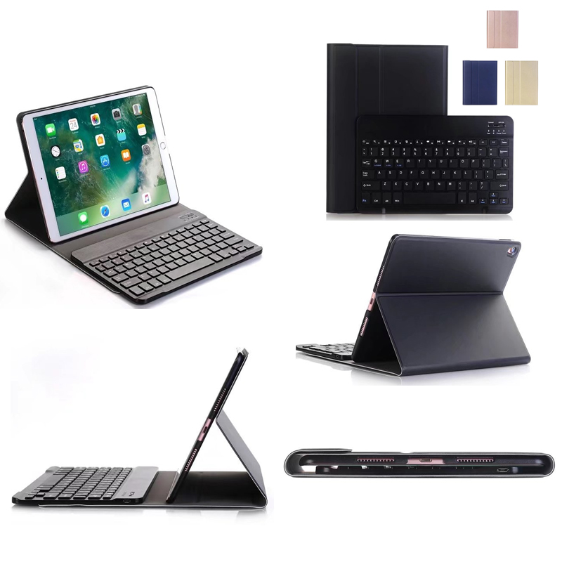For iPad Pro 10.5 High-Quality Ultra thin Detachable Wireless Bluetooth ABS Ultra thin Keyboard Case cover For ipad pro 10.5 ultra thin folio cover with removable aluminum bluetooth keyboard for 10 5 ipad pro