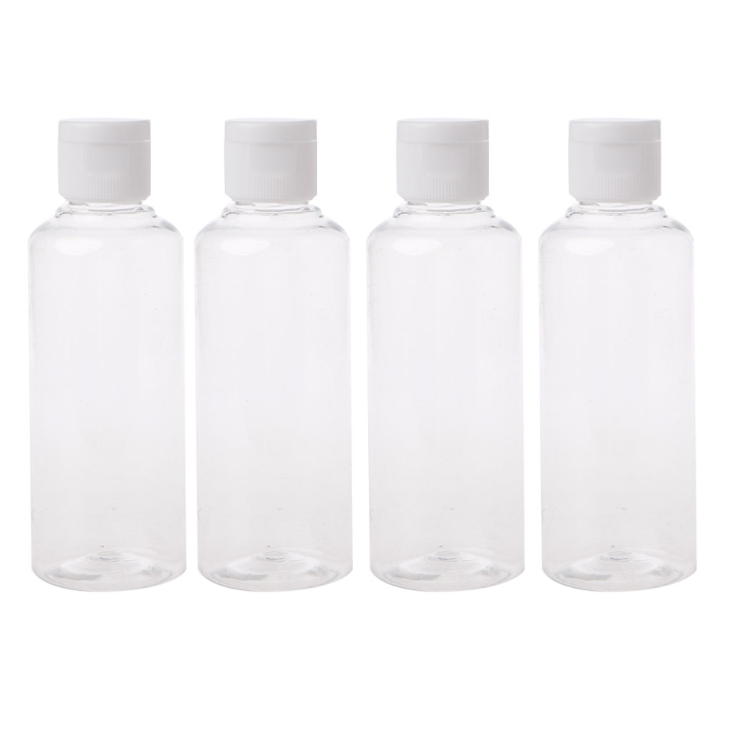 100/75/50 Ml Travel Makeup Empty Plastic Bottles Flip Cap For Liquid Lotion Cream