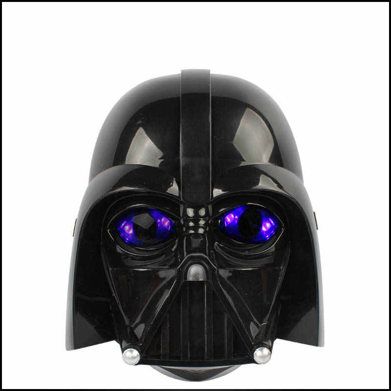 Hot Sale Star Wars Masker LED Light Helm Halloween dan Natal PV Darth Vader Masker Empire Clone Tentara Topeng Bercahaya
