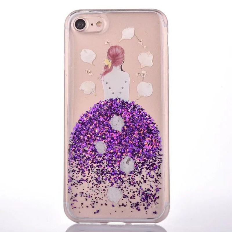 HTB1wd.gOVXXXXaoXXXXq6xXFXXXS - Soft TPU Glitter Princess Dress Girl Petal Patterned Back Cover Cell Phone Case for iPhone 7 PTC 185