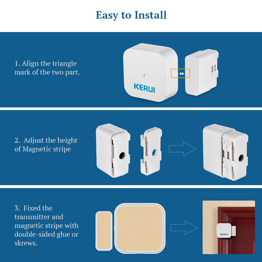Special Section Kerui 8218g Gsm Pstn Home Alarm Security System High Performance Cpu With Waterproof Pir Motion Sensor Detector Door Magnet Security & Protection