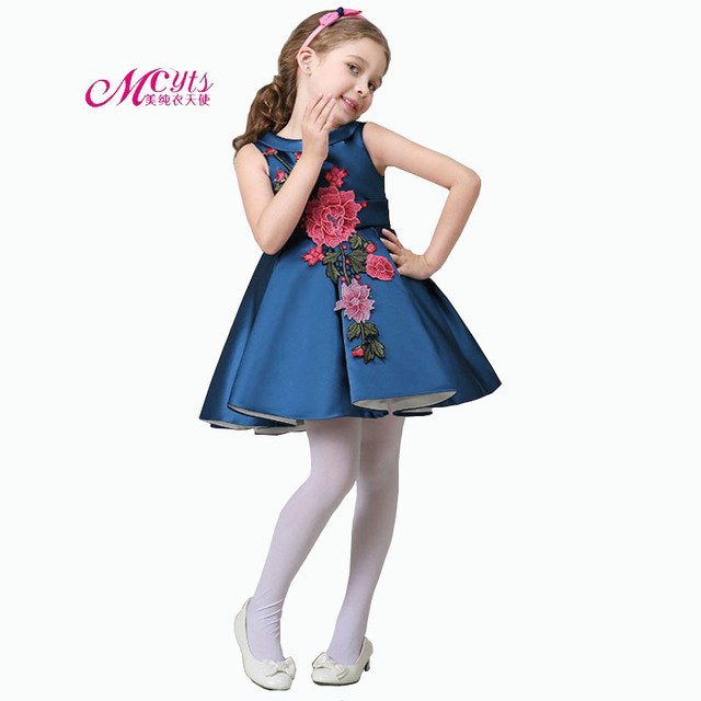 a4c740619 Summer Girls Embroidered Dresses Children Princess Party Dress Girls ...