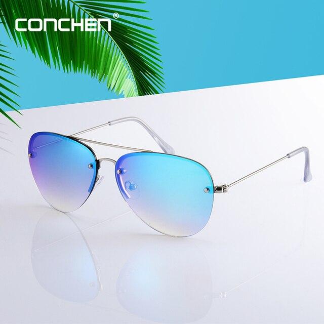 3185b439bc CONCHEN 2019 Nova Moda Grande Liga Quadro Grife Óculos De Sol Dos Homens de Alta  Qualidade Do Vintage Condução para As Mulheres