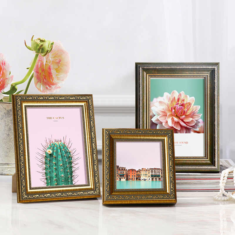 2018 Bronze Vintage Style Photo Frame For Table And Wall 1 Pcs Quality Picture Frame Bedroom Livingroom Frame Wall Free Shipping