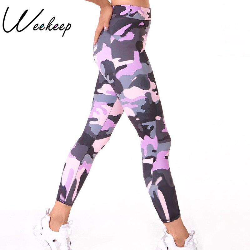 Weekeep Fitness Sporting Leggings Women High Waist Workout Legging 2018 Push Up Camouflage Women Legging Adventure Time leggins