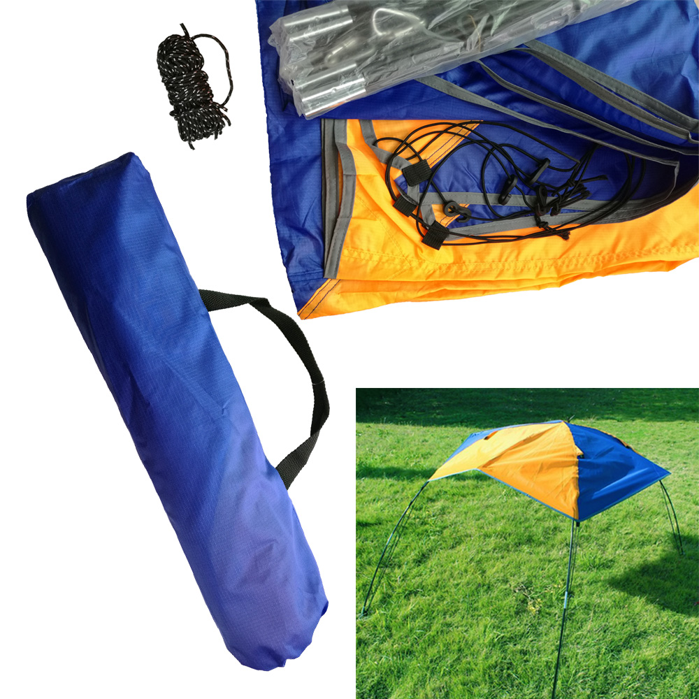 2/3/4 Person Inflatable Boat Sun Canopy Kayak Awning Top Cover Tent Fishing Boat Rain Sun Shade Shelter With Double Hole Pad