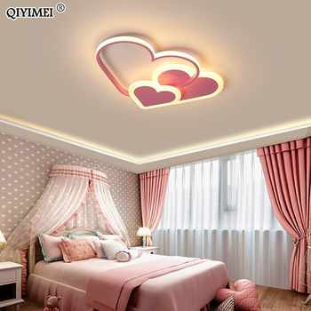 Heart Led Chandelier Light For Girl Room Bedroom Plafond Acrylic Lighting Lamp Modern New Fixture Lampadario Luminaire Lustres - DISCOUNT ITEM  29% OFF All Category