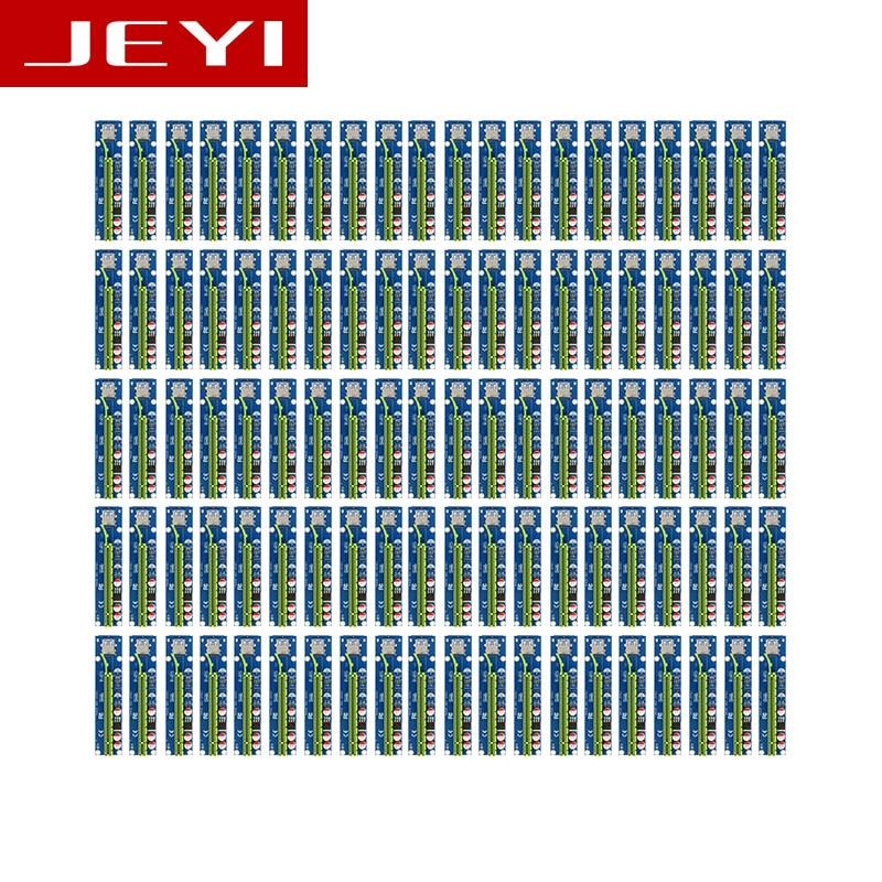 JEYI 100Pcs x1 x16 Riser PCI-E pcie PCI-Express PCIExpress 1x To 16x Extension Flex Cable Extender Converter Card Adapter 5A DC 8g bps riser card pci e x1 to pcie x4 extension ribbon cable 5cm 15cm 25cm 80cm pci express 1x 4x extender riser gen 3 0 angle