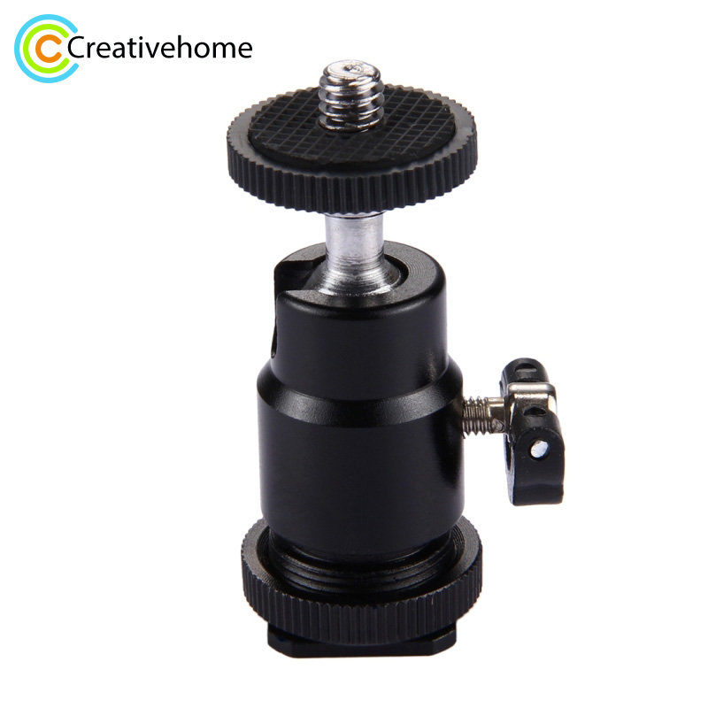 Tripod Head mini <font><b>360</b></font> Degree Camera Tripod Mini Ballhead Ball Head Hot <font><b>Shoe</b></font> Adapter to 1/4 Screw Mount DSLR Camera Accessories image