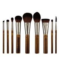 Wooden Handle Makeup Brush 9 Pcs Set