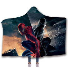 Fans Wear The Spiderman 3 Sleeveless Hoodies Unisex Winter Hoodie Casual Coat Movie Superhero Hoody Marvel Venom Cosplay Blanket