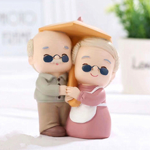 Sweet Old Couple Dolls Ornaments Resin Crafts Creative Old Couple Wedding Desk Model Home Decoration Accessories Birthday Gifts resin swing old man old lady ornaments desktop crafts cartoon old parents figurine home decor accessories wedding gifts