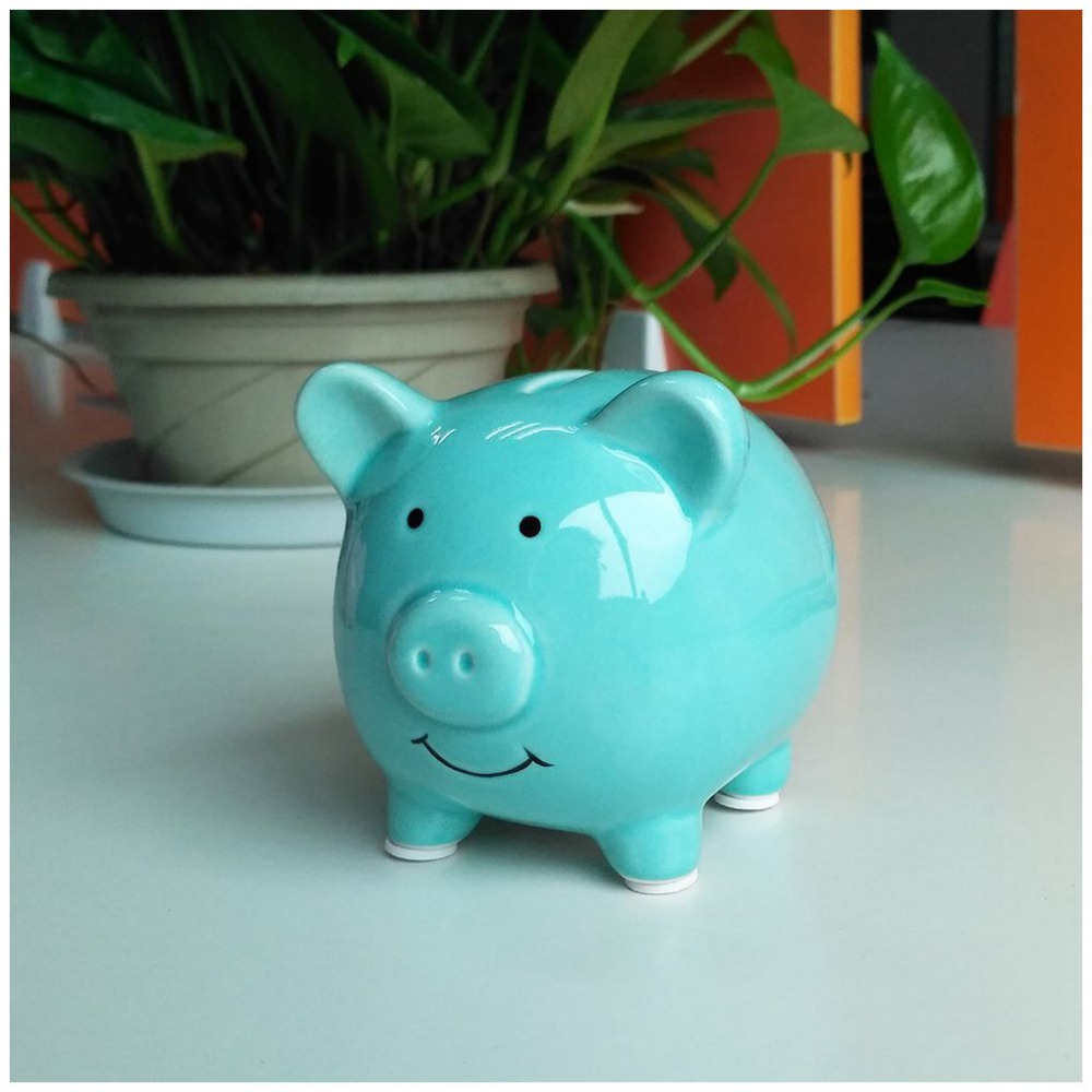 HOT Cute Ceramic Keepsake Piggy Bank Saving Cash Coin Money Box Children Toy Kids Gifts Home Collection Decorative Money Box in Money Boxes from Home Garden