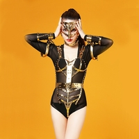 2018 Rhinestone Bodysuit Pimp Singer Dj Pole Dance Sexy Color Drill Stage Performance Costumes Sexy Costumes Crystal Bodysuit