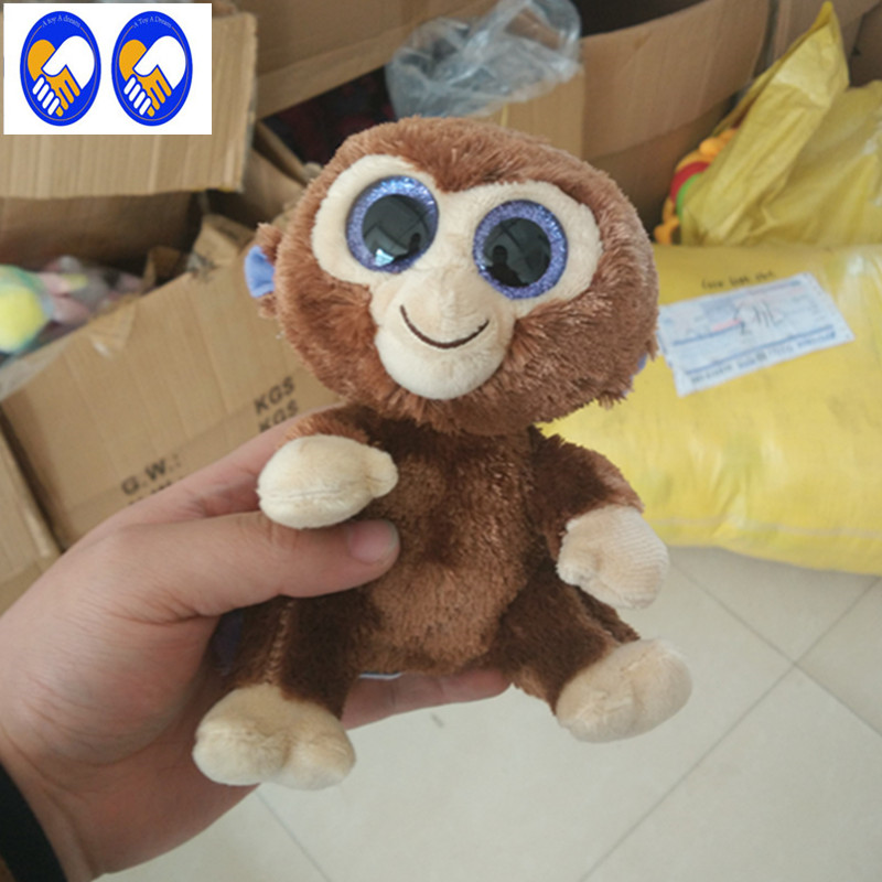 A Toy A Dream Ty Beanie Boos monkey leopard Big Eyes Beanie Baby Plush Stuffed Doll Toy Collectible Soft Plush Toys Kids Gift