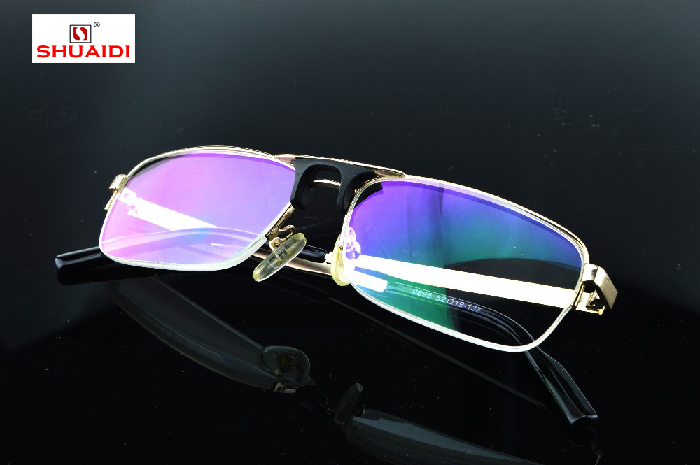 2019 Real New Designer de Óculos Óculos de Leitura De Titânio De Cristal de Alta Qualidade Estilo Aviação Richman + 1 + 1.50 + 2.0 + 3.0 + 3.5 + 4