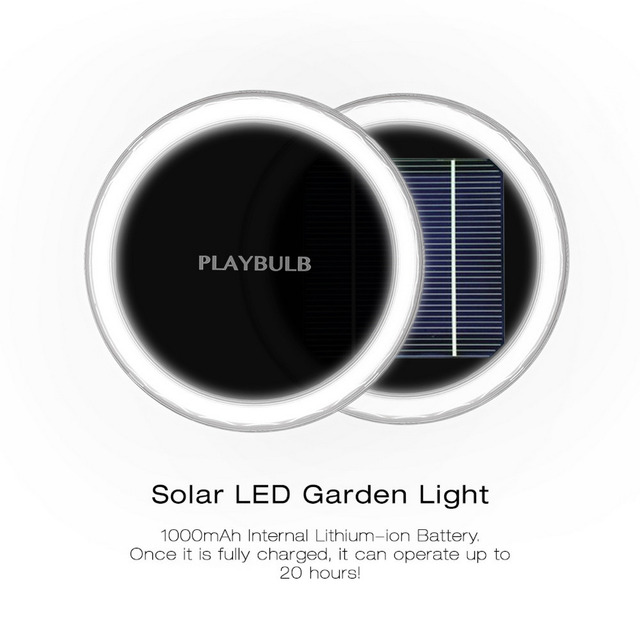 PLAYBULB Waterproof LED Solar Garden Color Smart Light Yard Lawn Outdoor Decor Lamp Free APP Control RGBW Colors Changed
