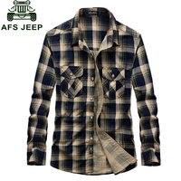 S 4XL Plaid Casual Men Shirt 2016 Chemise Homme Camisa Masculina Shirts Long Sleeve Cotton Vetement
