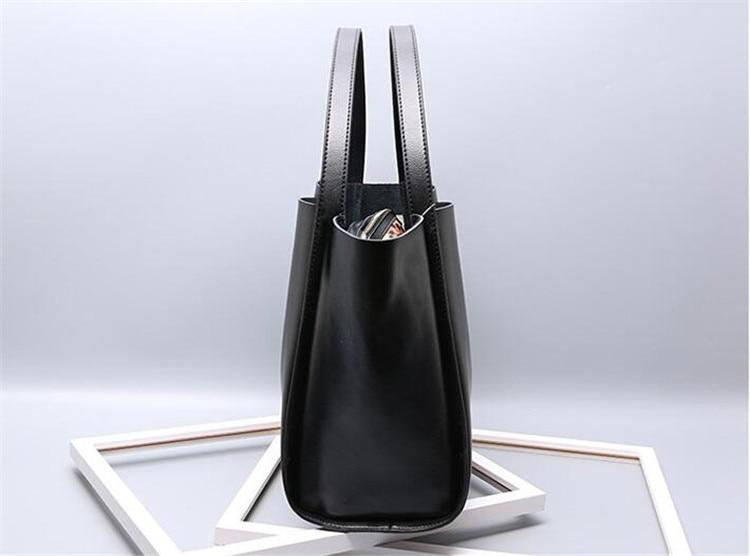 Grand Style Femmes Chjjny Unique En Épaule Bgs Véritable 2017 Simple De Mode Black Vintage Sac Date Cuir Fourre tout E0qrxqpzw