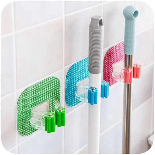 Creative Home Furnishing Mop Hook Multifunctional Besom Sweeper Clip Rack Holder
