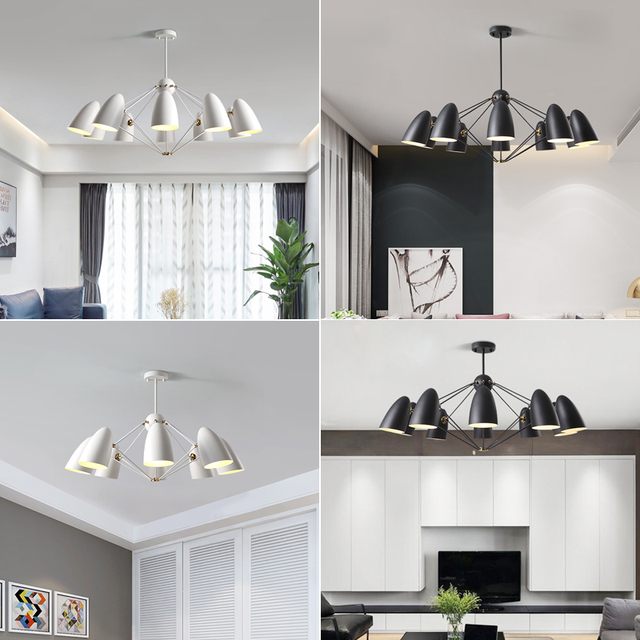 Delicieux Nordic Chandelier Living Room Bedroom Modern Led Lighting Dining Room  Household Chandelier Simple Black Contemporary Chandeliers