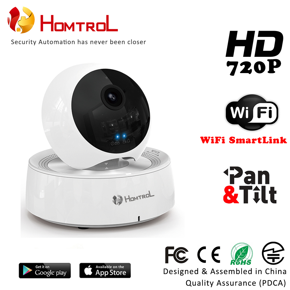 Homtrol Baby Monitor Wifi Ip Camera Day Amp Night Vision