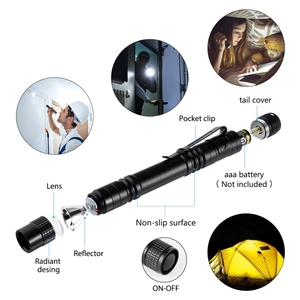 Image 2 - 4 PCS Super Small Mini LED Flashlight Set Handheld Pen Light linterna Pocket Torch with High Lumens for Camping, Fishing