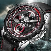 652b5e0695c1 Lige hombres reloj cronómetro cronógrafo reloj impermeable mens relojes top  de lujo deporte de cuarzo reloj