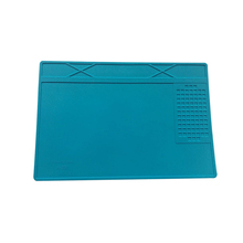 Heat-Resistant Bga Soldering Station Soldering Pad Silicone Heat Insulation Pad Repair Tools Maintenance Platform Desk Mat-Blue