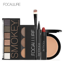 Focallure Makeup Set with 6colors/palette Eyeshadow Eyebrow Eyeliner Face Powder Matte Lipstick in one Kit