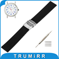 19mm 20mm 21mm 22mm caucho de silicona watch band para timex expedition weekender correa de hebilla de acero inoxidable pulsera de la correa