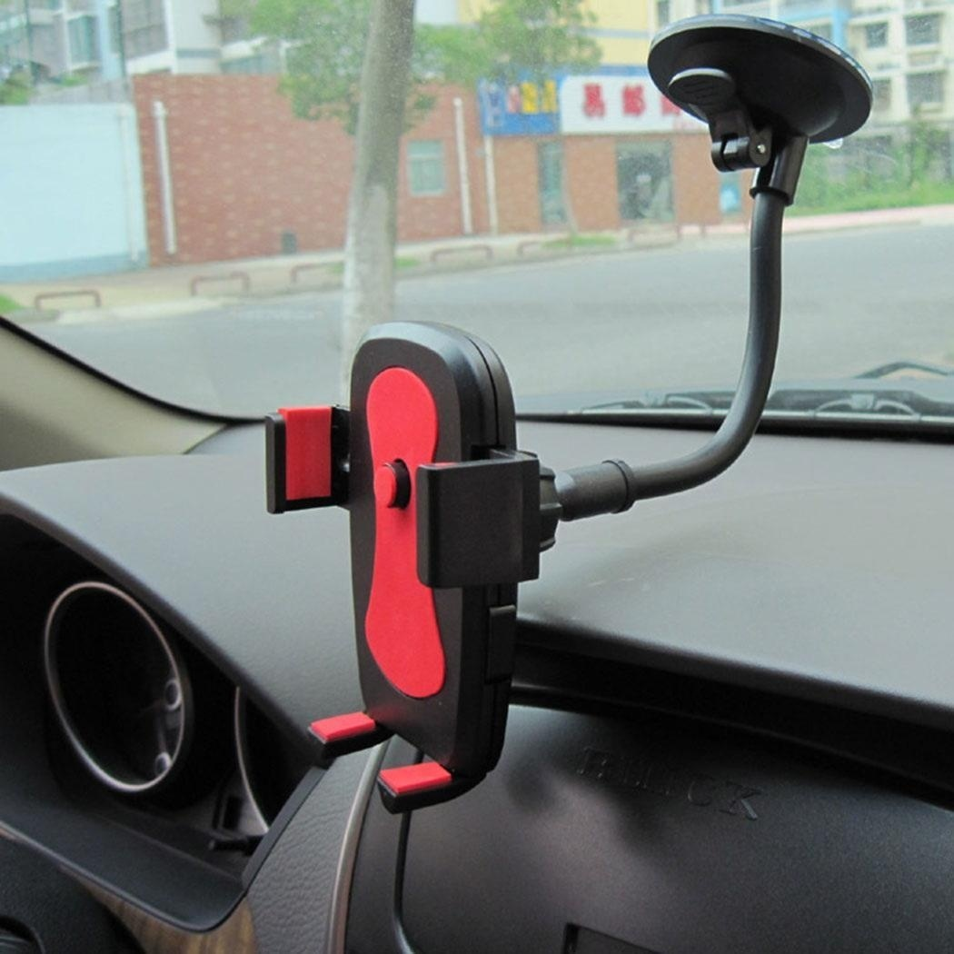 Universal Windshield Mobile Phone Car Mount Bracket Holder Locking Suction Mount