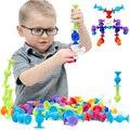 Мягкие строительные блоки Дети DIY Squigz Sucker Забавный силиконовый блок Модель Строительство игрушки творческие подарки для детей мальчик - фото