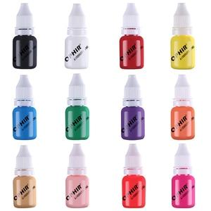 Image 2 - OPHIR 12สีA Irbrushเล็บหมึกสีw/ล้อสี10มิลลิลิตร/ขวดอะคริลิน้ำหมึกเล็บสำหรับเล็บลายฉลุสี_ TA098