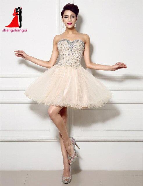 2017 Cheap Blush Short Prom Dresses Crystals Off Shoulder A Line ...