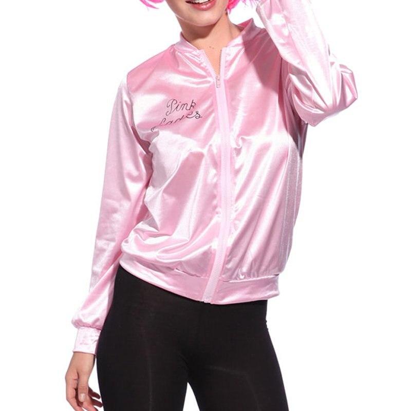 Women   Basic   Coats Solid Tracksuit for Women   Jacket   Lady Retro   Jacket   Women Fancy Pink Dress Grease Costume