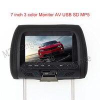 Headrest Monitor 7 Inch TFT LED Screen Pillow Monitor General Car Beige Gray Black Color AV