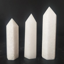 70/80and90mm natural white jade stone crystal wand rare quartz point healing