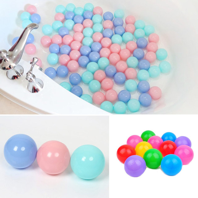100pcs/lot Eco-Friendly Colorful Plastic Ball Water Pool Ocean Wave Ball Toys Stress Air Ball Outdoor Sports Toys for Children 4