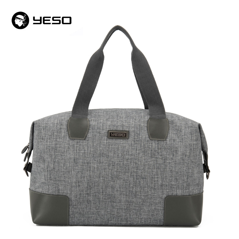 YESO Men Large Capacity Travel Bags Canvas Leather Sexual Business Luggage Bags Women Duffel Bags High