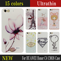 Hot Cartoon Painted Mobile Phone Case For HUAWEI Honor C4 C8818 Case Capa Funda For Huawei Honor C4  TPU Back Cover Phone Skull
