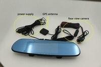 Karadar araba dikiz aynası gps 5 inç IPS dokunmatik Android 4.4 IŞLETIM SISTEMI GPS DVR 1080 P çoklu dil