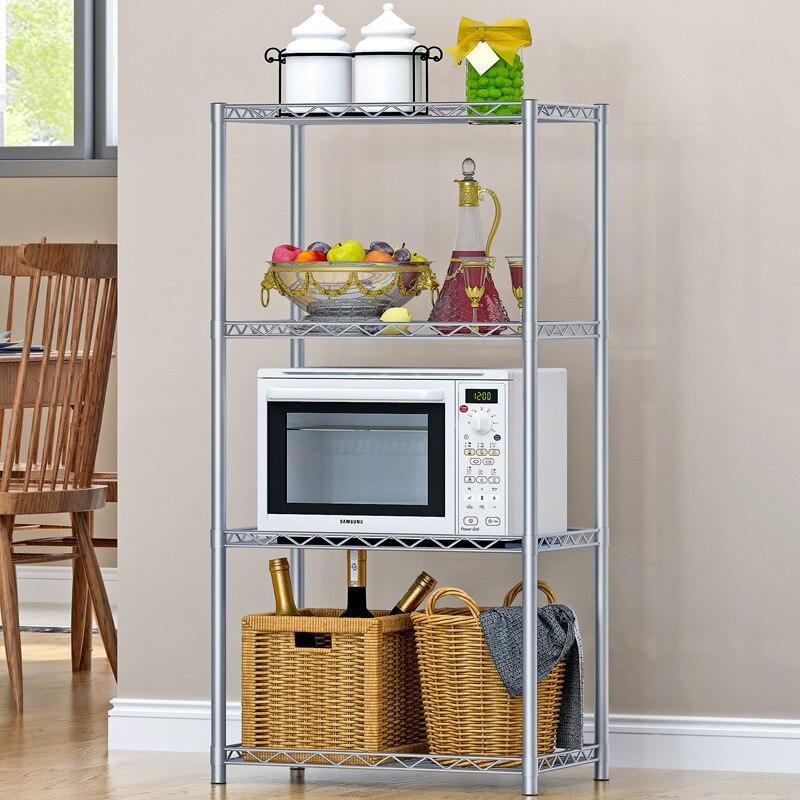 Floor Standing Storage Rack Kitchen Bathroom Organizer Shelf For ...