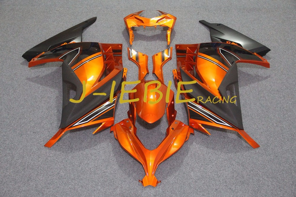 Orange black Injection Fairing Body Work Frame Kit for Kawasaki NINJA 300R EX300 EX 300 R 2013 2014 2015 2016